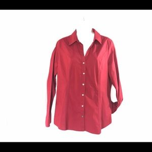 Express red The essential Shirt fitted blouse Lrg